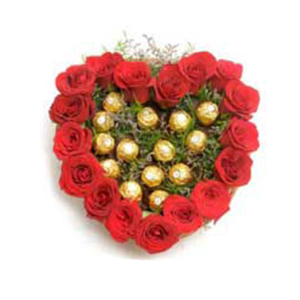 Valentine Ferrero Rocher with Roses