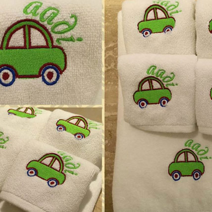 Personalised Monogrammed Boys Towel Set