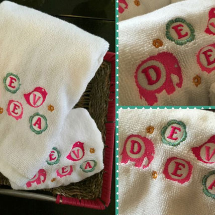 Personalised Monogrammed Girls Towel Set