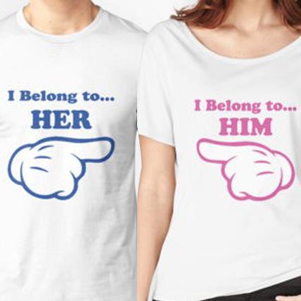 Personalised Couple T-shirts