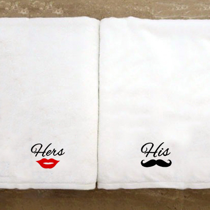 Personalised Towel Set-His and Hers