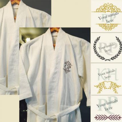 Personalised Monogrammed Bath Robes-1