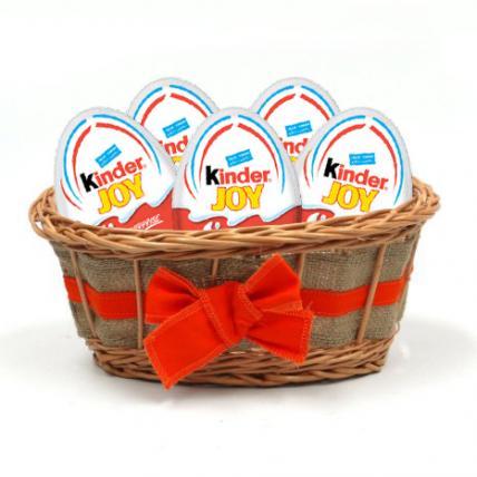 Easter Eggs Kinder Joy Basket