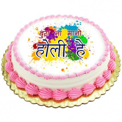 Holi Celebration Photo Cake