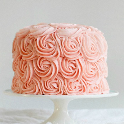 Pink Roses Ombre Cake