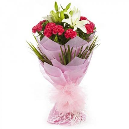 Valentine Lilies and Carnations
