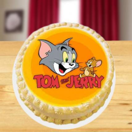 Remarkable Tom Jerry Cake Home Delivery India T Personalised Birthday Cards Veneteletsinfo