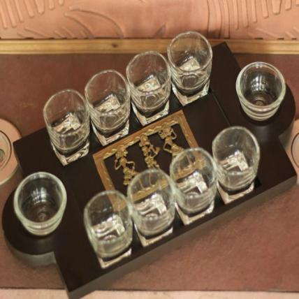 Dhokra Art Shot Glass Set