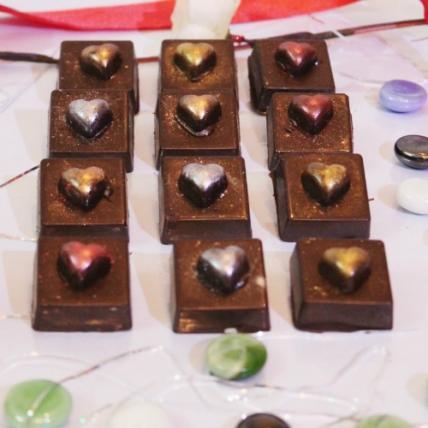 Glittery Heart Chocolates