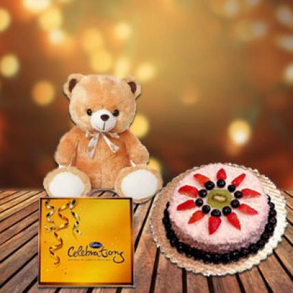 Cake, Chocolate & Teddy