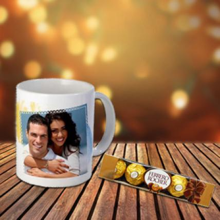 Personalised Mug & Chocolate