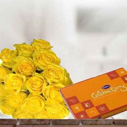Yellow Roses & Chocolate