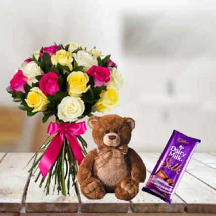 Roses, Teddy & Dairy Milk Silk