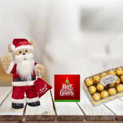 Santa Claus, Chocolate & Card