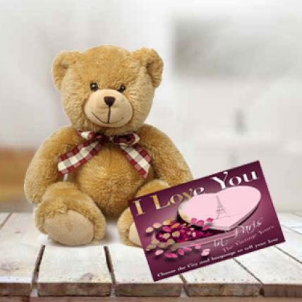 Valentine Teddy With Greeting Card