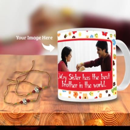 Stone Rakhi with Rakhi Photo Mug