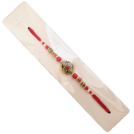 Orange and Golden Fancy Rakhi