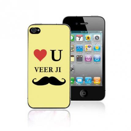 Love you Veerji Personalised Mobile Cover