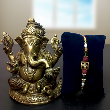 Rakhi with Ganesha Idol