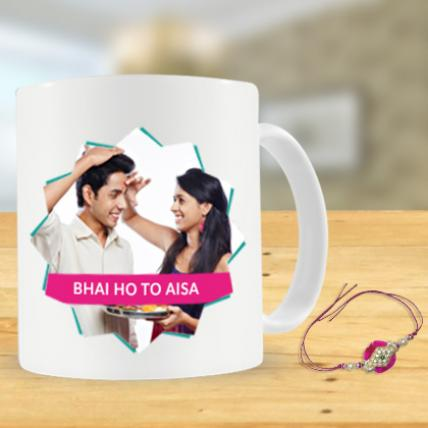 Bhai ho to Aisa Mug and Rakhi