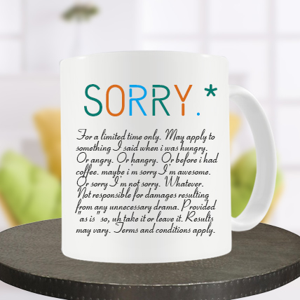 Sorry Definition Mug