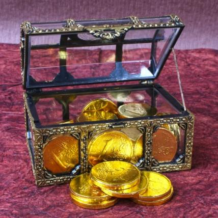 Gold Coin Chocolates Treasure Box