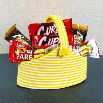 Basket of imported Choco Bars