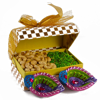 Diwali Box with  Mouth Freshener & Cashew
