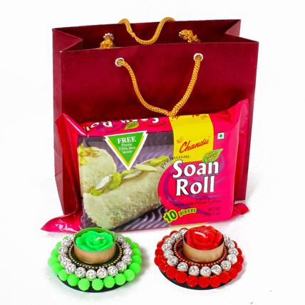 Soan Roll with Floating Diya Hamper
