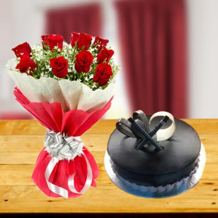 Exclusive Flower and Cake Combo