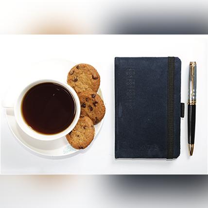 Blue Seude Pocket Journal