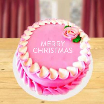 Christmas Strawberry Cake