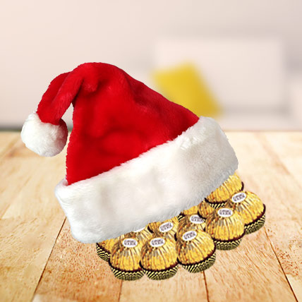 Santa Cap full of Ferrero Rocher Chocolates