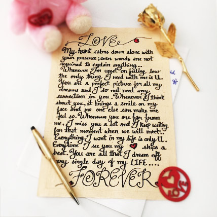 Handwritten Letter of Love