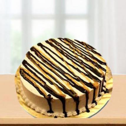 Valentine ButterScotch with Choco Garnish Cake