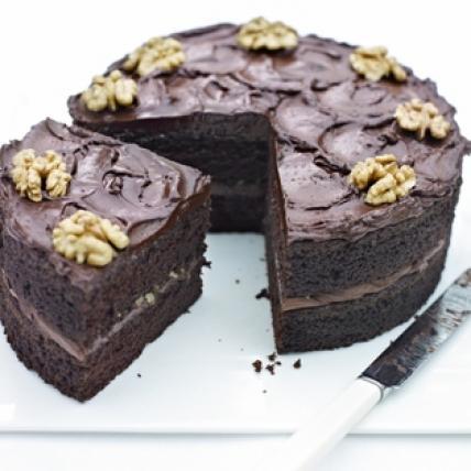 Valentine Choco Walnut Cake