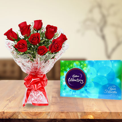 Roses and Cadbury Celebration