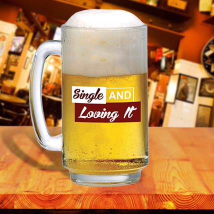Single and Loving it Beer Mug