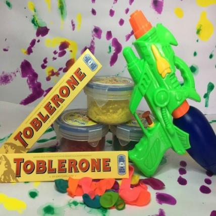 Pichkari and toblerone combo for kids
