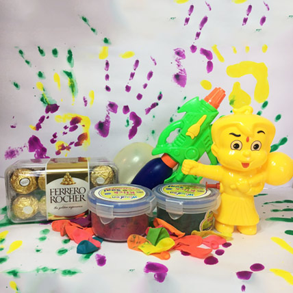 Double Holi Combo for Kids with chocolate