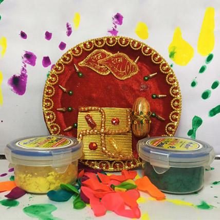 Pooja Thali with Colors Combo