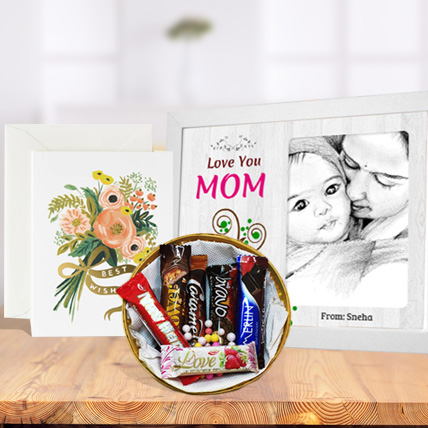 Mothers Day Photo Frame, Imported Chocolates & Card