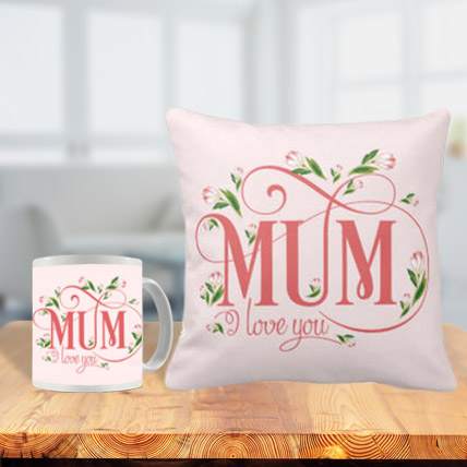 Cushion and Mug Combo for Mom