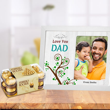 Fathers Day Photo Frame and Chocolates