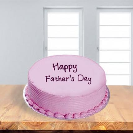 Fathers Day Strawberry Pink Cake