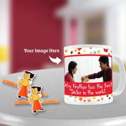 Chota Bheem Rakhi with Mug