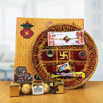 Rakhi Thali with Small Ferrero Rocher