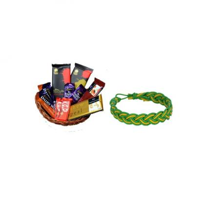 Chocolate Basket with Friendship Band