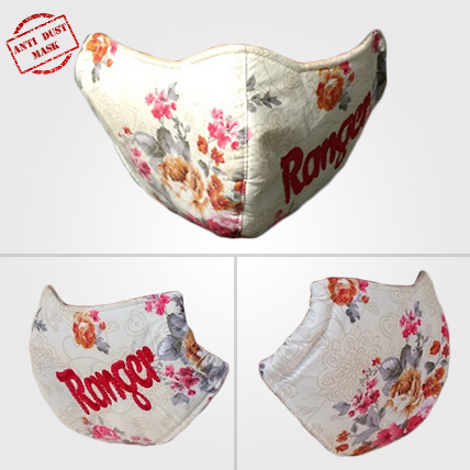 Anti Dust Mask Plain Floral Design