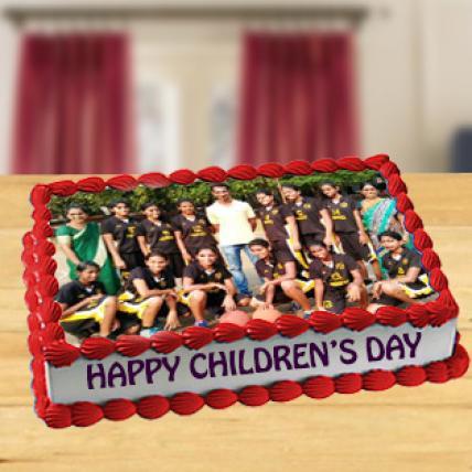 Childrens Day Photo Cake